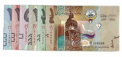 Kuwait, 2014 sixth Issue Complete Set 20 to1/4 Dinars replacement (UNC) #410