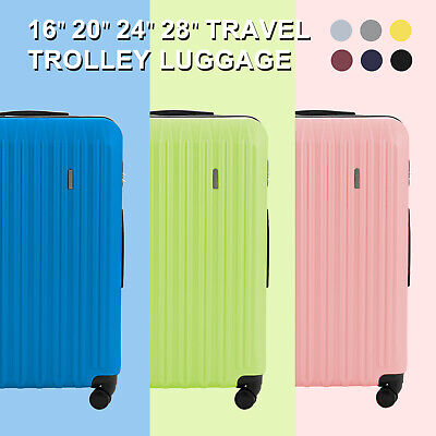 20/24/28'' Luggage Travel Set Bag Trolley Case Carry On Suitcase with 4 Wheels