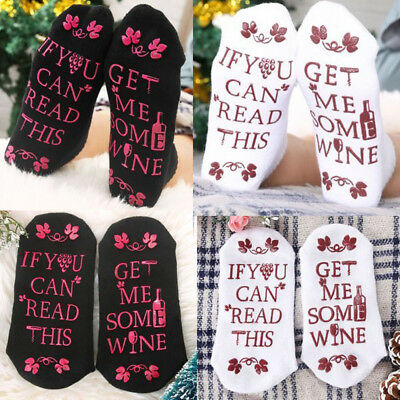 Fashion Women Men Unisex Warm Beer Socks If You Can Read This Bring Me Some Wine
