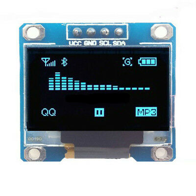 """US SELL 0.96"""" I2C IIC Serial 128X64 Blue OLED LCD LED Display Module for Arduino"""