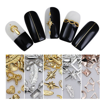 Metal Hollow Nail Art Rivets Studs Jewelry Ornaments Pro Manicure 3D Decorations