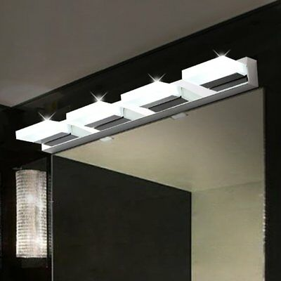 Modern Bathroom Vanity LED Light Crystal Front Mirror Toilet Wall Lamp Fixture S