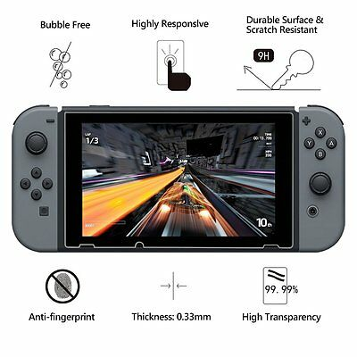 2X Premium Tempered Glass Screen Protector Guard Shield For Nintendo Switch 2018
