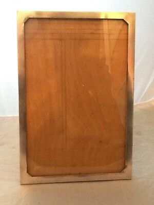 "Very Large Antique Silver Photo Picture Frame 11"" X 7 1/2"" Birmingham 1918"