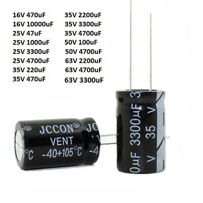 16V 25V 35V 50V 63V Radial Electrolytic Capacitors Range of 47uF-10000uF
