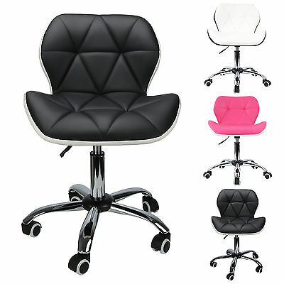 Modern Office Swivel Computer Desk Mesh PU Leather Study Chair Height Adjustable