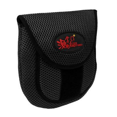 Baitcasting Reel Case Protective Cover Outdoor Fishing Pouch Bags Black