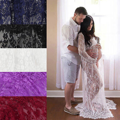 Sexy Maternity Lace Dress Pregnant Mummy Photography Wedding Costume Maxi Gown