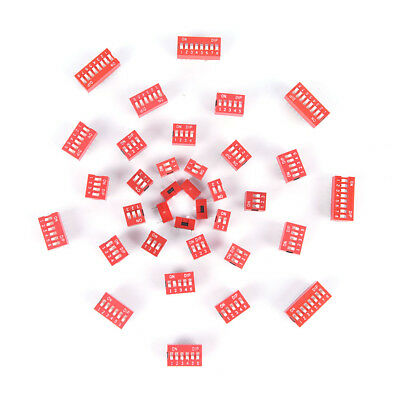35PCS Dip Switch Kit 1 2 3 4 5 6 8 Way Toggle Switch Red Snap Switches Each PL