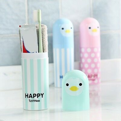 Portable Cartoon Toothbrush Protect Holder Cover Travel Camping Case Box Kawaii
