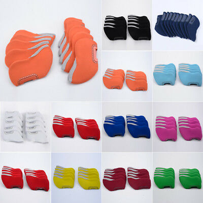 10 Neoprene Golf Club Headcovers Head Cover Guard Iron Protect Case Set 11Colors