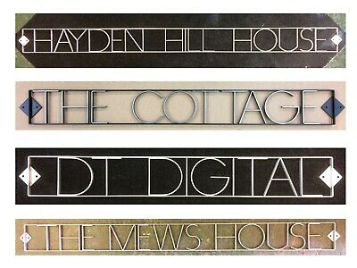 Personalised House Name Business Name sign Bespoke Handmade Stainless Steel