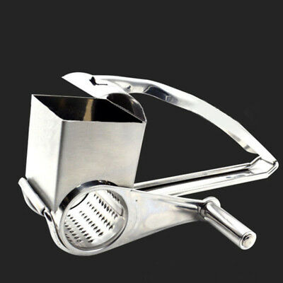 NEW Stainless Steel Multi Purpose Rotary Cheese Nut Spice Grater Shredder tools~