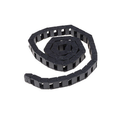 Black Plastic Drag Chain Cable Carrier 10 x 15mm for CNC Router Mill QY PL