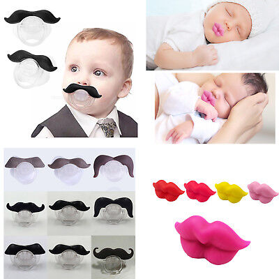 FUN Silicone Infant Pacifier Orthodontic Nipples Dummy Mustache Beard Mouth Baby