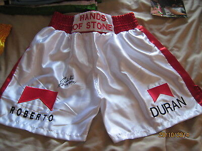 Roberto Duran  Signed Shorts/trunks Photo Proof