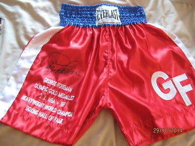 George Foreman Signed Shorts/trunks Photo Proof