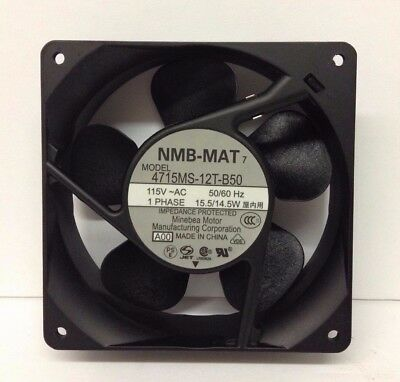 New Nmb-Mat, 4715Ms-12T-B50, 115Vac, 1 Phase, 50/60Hz, 15.5/14.5W Cooling Fan E3