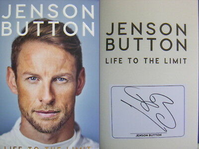 Hand Signed Bookplate in Book Jenson Button Life to the Limit Autobiography Hdbk