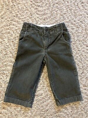 6c38a27bf53 Baby GAP Boys Corduroy Pants Toddler Boy s Size 18-24 Months Olive green