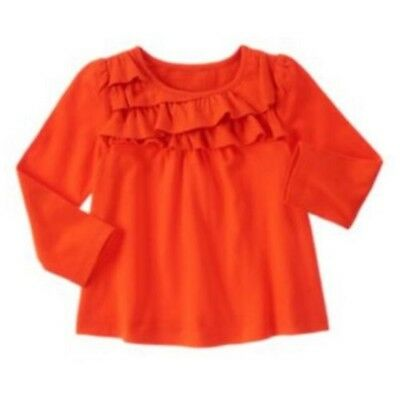 NWT Gymboree Girls Right Meow Layered Ruffle Tiered Orange Top Size 2T & 3T