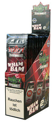 1 Box (25x2) Juicy Jay's Double Blunts WHAM BAM aromatisiert flavoured