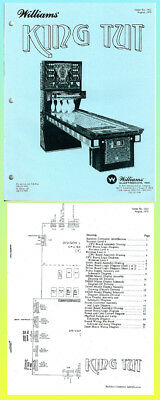 KING TUT, 1979  Williams Shuffle Alley Service  Manual & Schematic Manual
