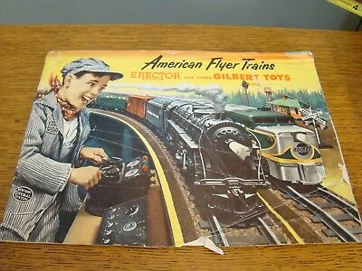 Vintage American Flyer Trains Erector And Other Gilbert Toy 50 Page Catalog