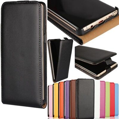 Magnetic Luxury PU Leather Vertical Flip Fitted Pouch Phone Case For Samsung
