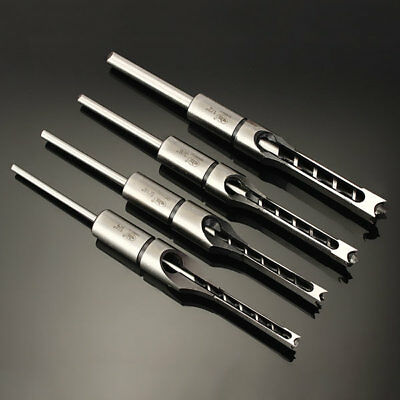 Woodworking Square Hole Drill Bit Mortising Chisel 1/4 to 1/2 Inch