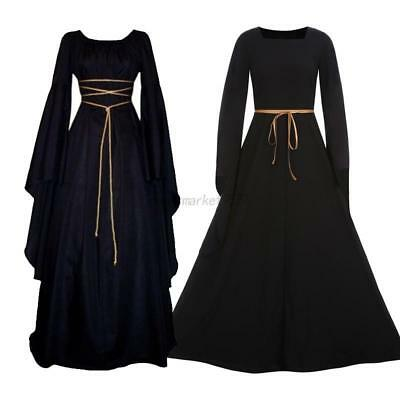 Women's  Medieval Dress Vintage Victorian Renaissance Gothic Costume Gown Dress