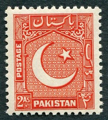 PAKISTAN 1948-57 2a red SG29 mint MNH FG Star and Crescent #W50