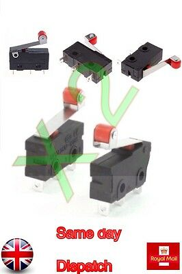 10 Pc S Micro Limit  Switch Roller Lever Arm Snap Action SPDT  Action CNC Home