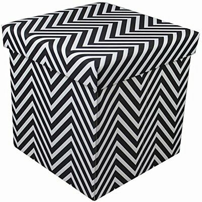 Cool Sorbus Chevron Foldable Collapsible Storage Ottoman Cube Unemploymentrelief Wooden Chair Designs For Living Room Unemploymentrelieforg