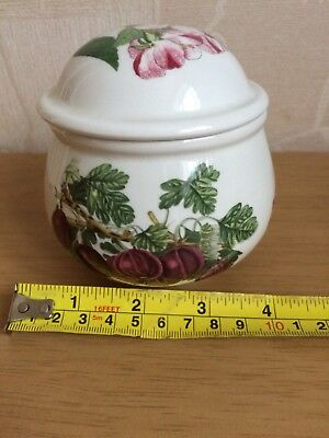 Portmeirion Pomona covered sugar bowl jar..Free P&P