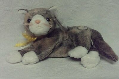 Ty 2002 Beanie Babies Baby Of The Month Cappuccino Cat