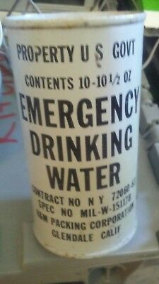 Cold War Civil Defense bomb shelter US Government emergency drinking water can