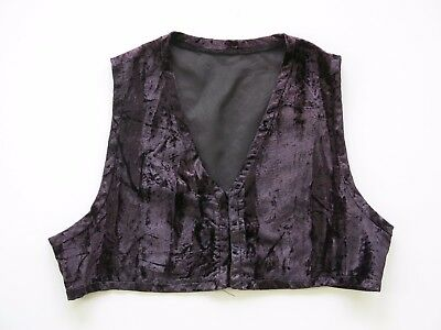 PRINCE Stage Worn CRUSHED VELVET VEST With COA, LIFETIME GUARANTEE