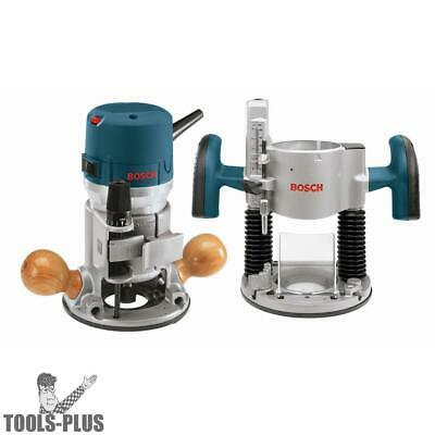 Bosch 1617EVSPK 2.25 HP Combination Plunge & Fixed-Base Router Pack New
