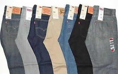 LEVI'S MENS 505 REGULAR FIT JEANS - NWT! Various Colors and Sizes! Free Shipping