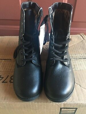 New the children's place girl's ankle boot size 13 black