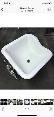 antique sitz cast iron/porcelain Victorian bathtub
