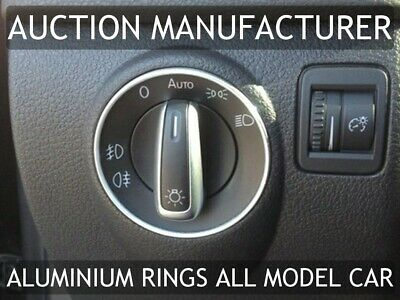 VW Polo 6N / 9N / 6R Aluminium Surround 1x Chrome Ring For Light Switch