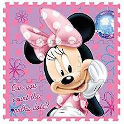 DISNEY MINNIE INTERLOCKING SOFT EVA PLAY AREA MAT GYM FOAM JIGSAW FLOOR  x 9
