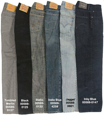 LEVI'S MENS 569 REGULAR FIT JEANS - NWT! Various Colors and Sizes! Free Shipping
