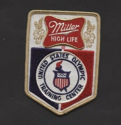 Vintage Miller High Life Beer Us Olympics Training Center Patch See Pics