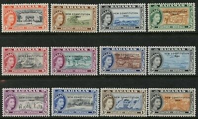BAHAMAS Sc#185-196 SG228-239 1964 New Constitution Short Set to 2sh OG Mint NH