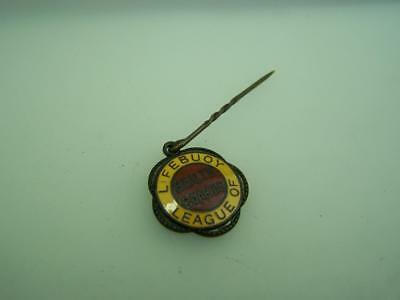 Vintage enamelled stick pin Lifebuoy League of Health Guards soap promotion 2574