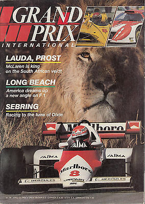 Grand Prix International #78 April 1984 Prost in South Africa