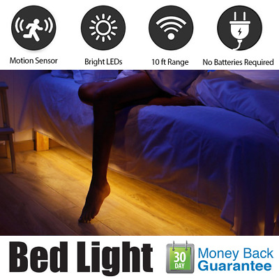 LED Under Bed Night Light Motion Activated Lighting PIR Sensor Flexible Strip